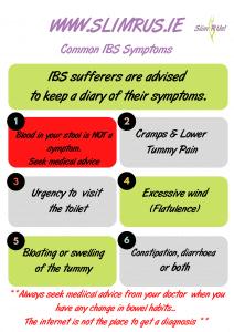 Some common IBS symptoms