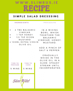 Simple salad dressing recipe for weight loss