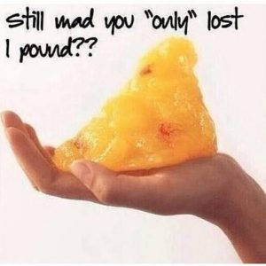 Only lost one pound of weight